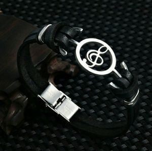 Other - 🆕 Leather Music Lover Bracelet